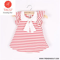 Girl Dress Baby Dresses Pattern Print Lemon Cartoon Birthday Dress Female Baby Summer Clothes Kids Girl Clothes Red / 3M