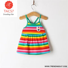 Girl Dress Baby Dresses Pattern Print Lemon Cartoon Birthday Dress Female Baby Summer Clothes Kids Girl Clothes Sky Blue / 3M