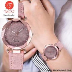 Ladies fashion Korean Rhinestone Rose Gold Quartz Watch Female Belt Watch Womens Watches Fashion Clock Watch Women Watches #A As shown-8