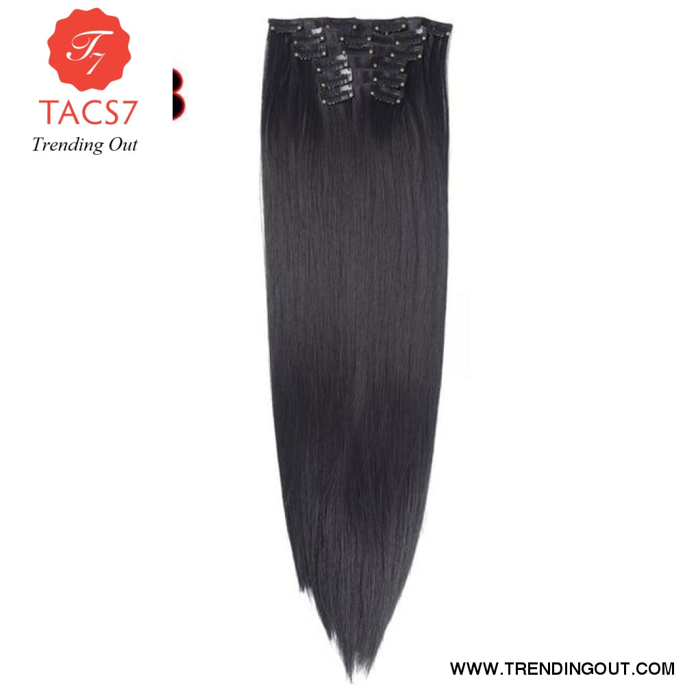 Long Straight Synthetic Hair Extensions Color 1 / 22inches