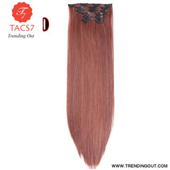 Long Straight Synthetic Hair Extensions Color 10 / 22inches