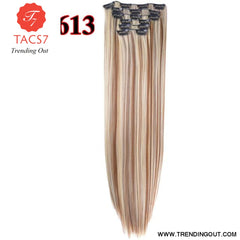 Long Straight Synthetic Hair Extensions Color 13 / 22inches