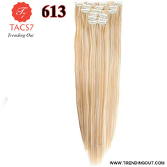 Long Straight Synthetic Hair Extensions Color 16 / 22inches