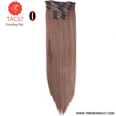 Long Straight Synthetic Hair Extensions Color 3 / 22inches