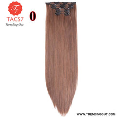 Long Straight Synthetic Hair Extensions Color 5 / 22inches
