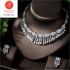 Luxury Sparking AAA Cubic Zirconia Bridal Jewelry Set A