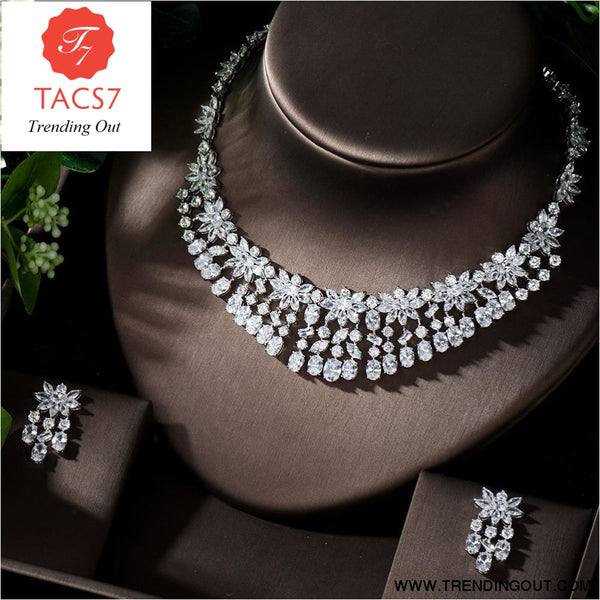 Luxury Sparking AAA Cubic Zirconia Bridal Jewelry Set
