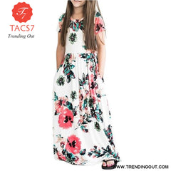 Maxi Girls Summer Dresses Elegant Kids Clothes Style Five / 2T