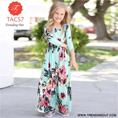 Maxi Girls Summer Dresses Elegant Kids Clothes Style Fourteen / 2T