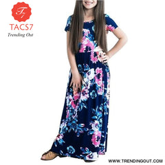Maxi Girls Summer Dresses Elegant Kids Clothes Style Seven / 7