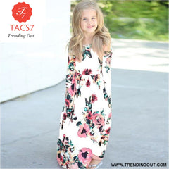 Maxi Girls Summer Dresses Elegant Kids Clothes Style Ten / 3T