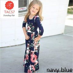 Maxi Girls Summer Dresses Elegant Kids Clothes Style Thirteen / 2T