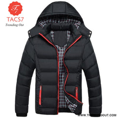 Men Winter Jacket Warm Male Coats Fashion Thick Thermal Black / M