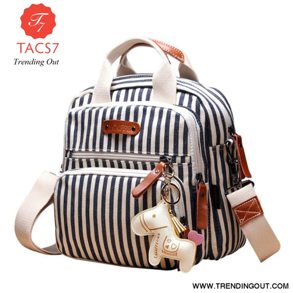 Multifunction Diaper Bag Backpack Mother Care Hobos Bags Baby Stroller Bags Nappy Bag for Mom with Horse Ornaments