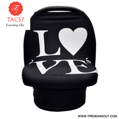 Multifunction Stretchy Baby Car Seat Cover Black D