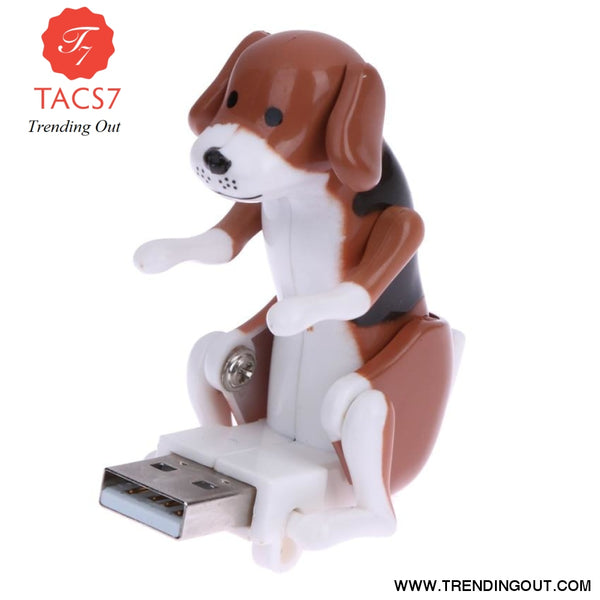Portable Mini Cute USB 2.0 Funny Humping Spot Dog Rascal Dog Toy Relieve Pressure for Office Worker Best gift For Festival