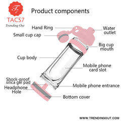 Portable Small Cell Phone Hidden Cup 400ml Portable cell phone cup