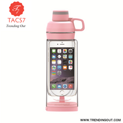 Portable Small Cell Phone Hidden Cup 400ml Portable Pink 612 cell phone cup