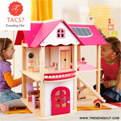 Pretend Play Furniture Toys Wooden Dollhouse Furniture Miniature Toy Set Doll House Toys for Children Kids Toy