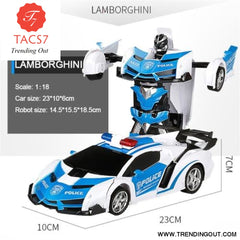 RC Car Transformation Robots Polic car / Battery