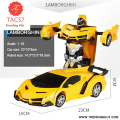RC Car Transformation Robots Yellow / Battery