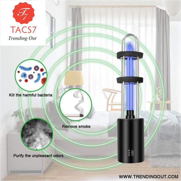 Rechargeable Ultraviolet UV Sterilizer Light Tube Bulb Disinfection Bactericidal Lamp Ozone Sterilizer Mites Lights presage