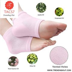 Silicone Moisturizing Gel Heel Socks For Cracked Dry Foot Skin Care Protectors Sock 1 Pair/2pcs