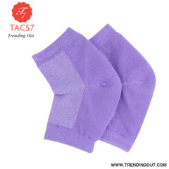 Silicone Moisturizing Gel Heel Socks For Cracked Dry Foot Skin Care Protectors Sock 1 Pair/2pcs Purple