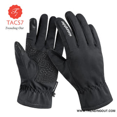 Ski Gloves Waterproof Fleece Thermal Heated Gloves Snowboard Snowmobile Gloves Men Women Winter Gloves For Sonwboarding Black / M