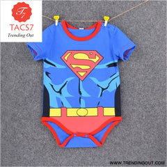 Summer Newborn Baby Girl Clothes Cartoon Baby Boy Rompers Spiderman Batman Unisex Baby Rompers Cartoon Animal Clothing Set Shot superman 2 /