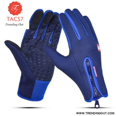 Touch Screen Gloves Dark Blue / XL