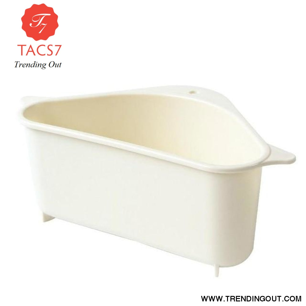 Triangle Shape Holder Multifunction Drain Shelf beige