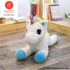Unicorn Stuffed Animals Soft Plush Doll Cartoon Unicorn Animal Horse Birthday Gift Toys for children Kids 40cm / Blue