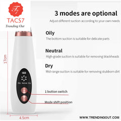 USB Blackhead Black Dot Remover Face Pore Vacuum Skin Care Acne Pore Cleaner Pimple Removal Vacuum Suction Facial Tools