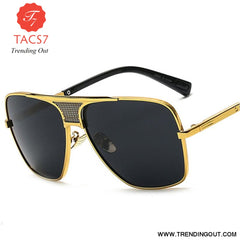 Vintage Men Square Sunglasses Women Brand Designer Fashion Women Golden Alloy Frame Sun Glasses UV400