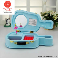 Violin music box girl dancing ballet music box Blue