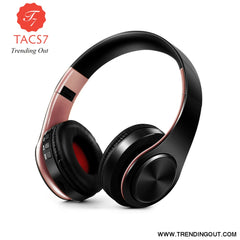Wireless Bluetooth Headphones Foldable Stereo Headset Music Earphone black rose gold
