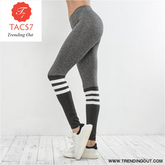 Women Color block Autumn Casual Pants Female Legging Multicolor / S