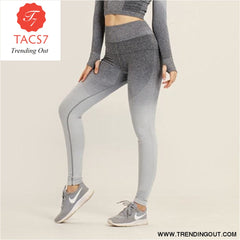 Yoga Set Gym Set Gym Leggings gray pants / S