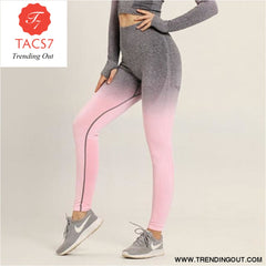Yoga Set Gym Set Gym Leggings pink pants / S
