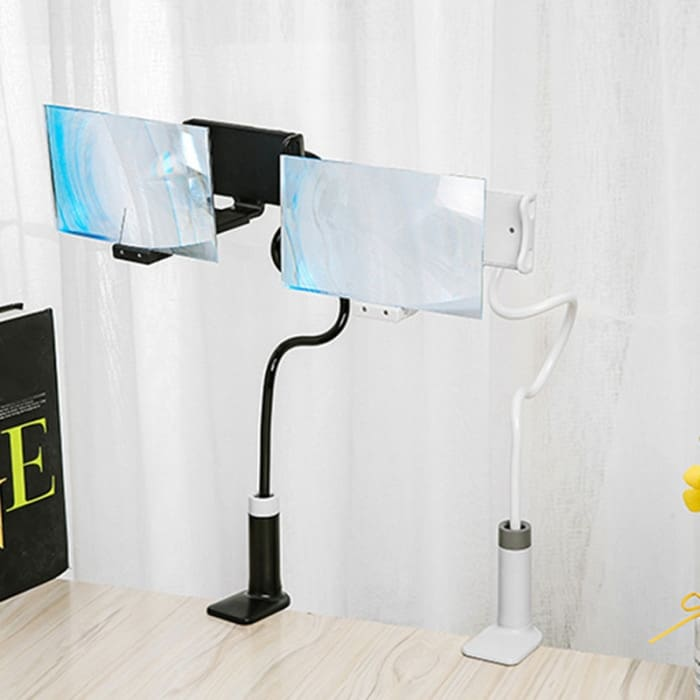 Mobile Phone High Definition Projection Bracket Adjustable Flexible All Angles Phone Tablet Holder 3D HD Screen Magnifier