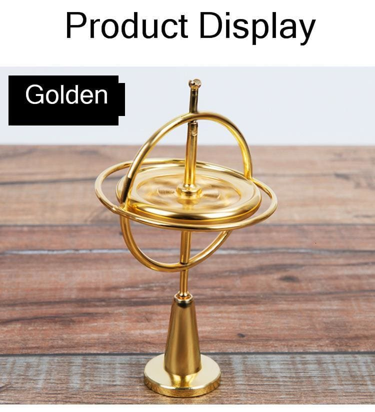 Creative Scientific Educational Metal Finger Gyroscope Gyro Top Pressure Relieve Classic Toy Traditional Learning Toy For Kids
