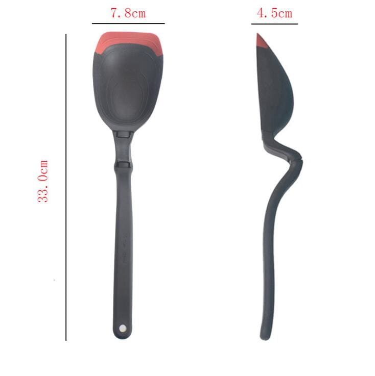360 Angle Multifunction Long Handle Spoon Flatware Silicone Sit Up Scraping Spoon Cooking Tools That Turns Into A Serving Ladle