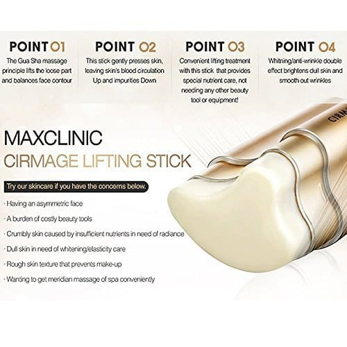 Maxclinic Cirmage Lifting Stick 23g Anti-Wrinkle Face Beauty Facail Cleaner Brush Washing Brushes