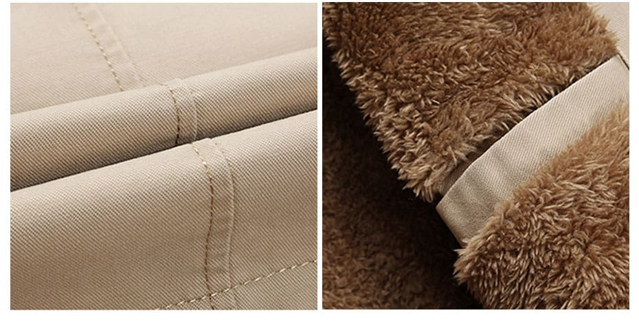 Zipper Fashion Fake Pocket Design Mens Winter Thick Coats