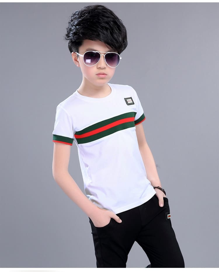Casual Active Boys Clothes Set Summer Girls Teenage T Shirt Shorts Children Suit 2019 Kids Outfits Sports Clothing For Boys 2Pcs (18)