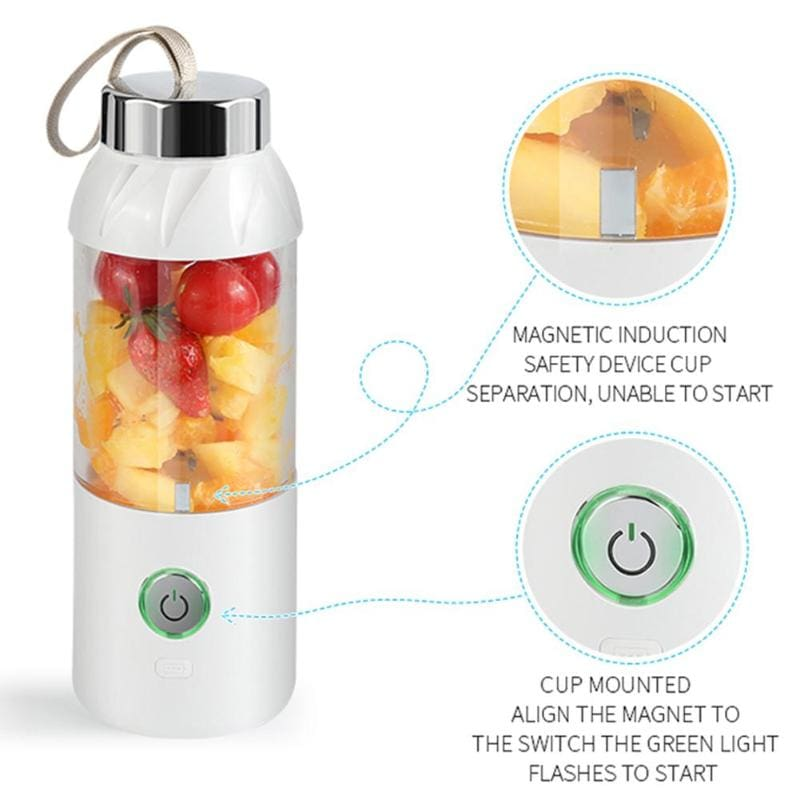 500ml USB Charging Blender Mixer Portable Juicer Machine Juice Fruit Maker Blender Rechargeable Mini Juice Making Cup Dropship