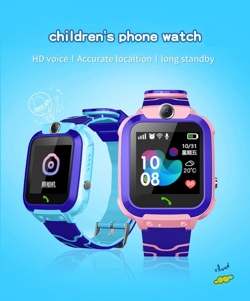 Kids Watches Positioning Wristwatch Tracker SIM Card Call Location Finder Anti-Lost Monitor Camera Photo Children Watch
