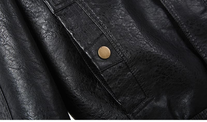 Faux Leather Jacket Men Spring Autumn Windproof Outwear Military Army Bomber Jacket and Coat 6XL Plus Size TD-MGND-08