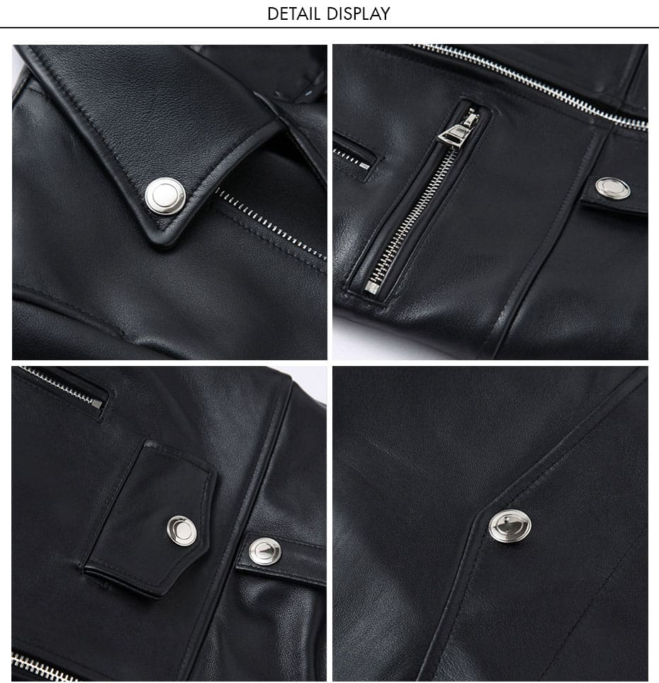 Fit Zipper Motor&biker Jackets Coat Spring Autumn Leather Coats